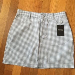 NWT Gingham Skirt With Pockets